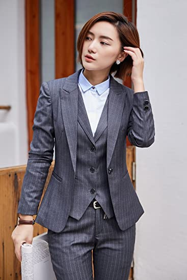 Amazon Com Clouds Butterflies Striped Suit Women S Wear Business