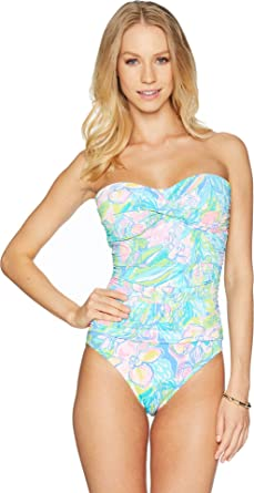 b2e9335a36 Lilly Pulitzer Women s Flamenco One-Piece Bennet Blue Surf Gypsea 14 at Amazon  Women s Clothing store