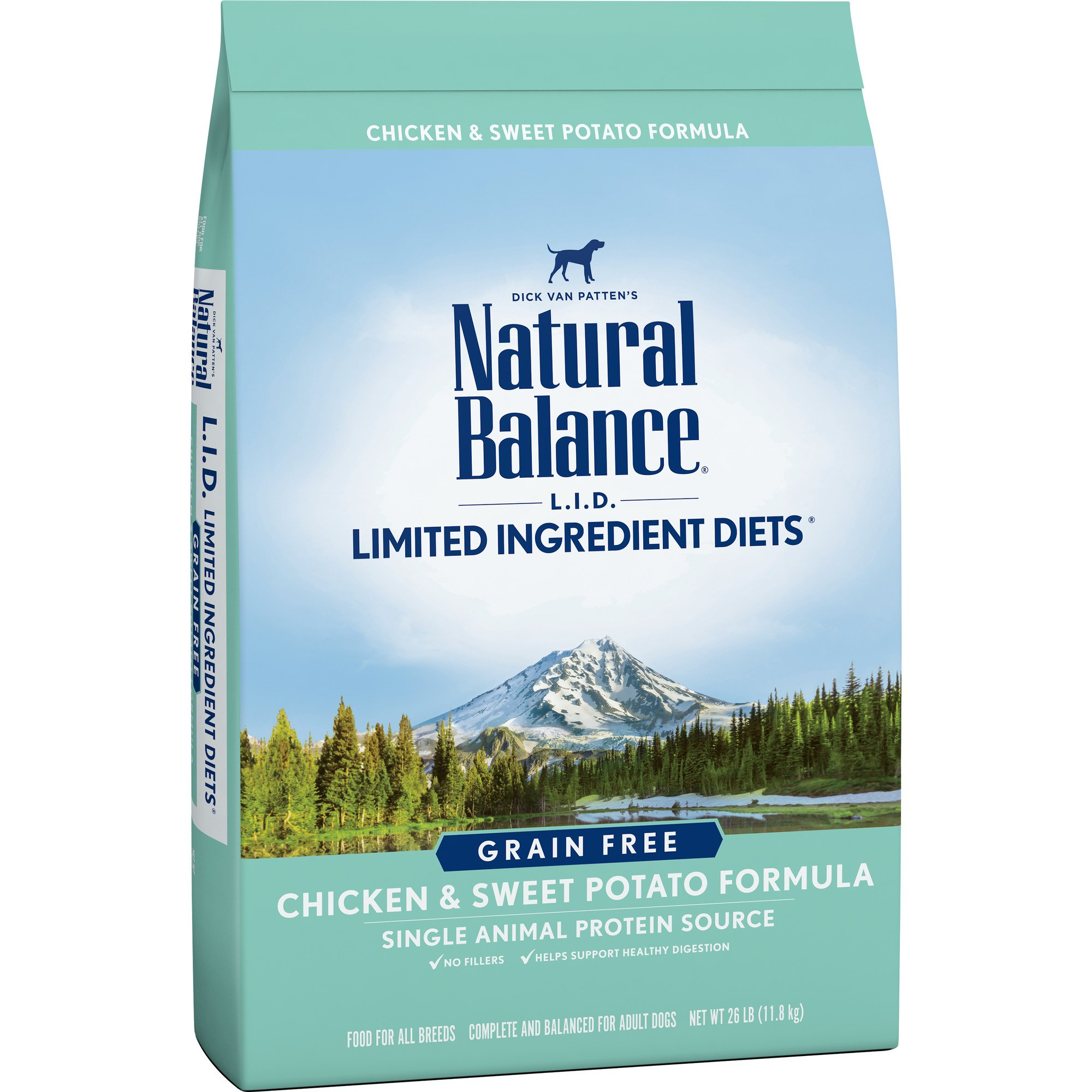 Natural Balance L.I.D. Limited Ingredient Diets Dry Dog Food, Grain Free, Chicken & Sweet Potato Formula, 26-Pound