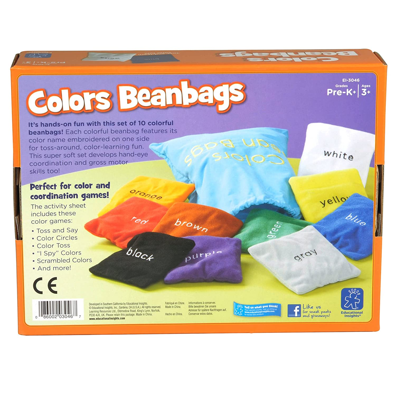 Color games for pre k - Amazon Com Educational Insights Educational Toys Colors Beanbags Toys Games