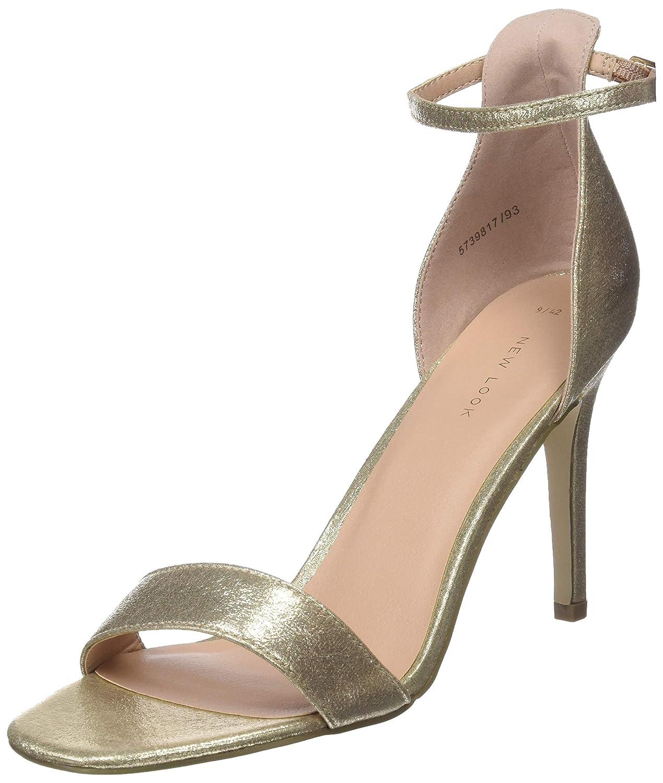 TALLA 38 EU. New Look Rocket 3, Zapatos con Tacon y Correa de Tobillo para Mujer