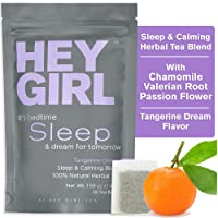 Herbal Tea Sleep Aid w/ Chamomile , Valerian Root & Lemon Balm in Tea Bags - Aids Anxiety & Stress Relief - Thoughtful Gifts For Women