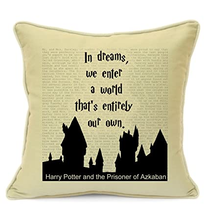 Harry Potter Quotes Birthday Gifts For Him Her Girls Boys Handmade 18 Cushion Cover Sofa Chair Couch Living Room Bedroom Christmas Xmas