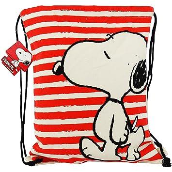 Peanuts Snoopy Mochila Bolso Saco En Tela Escolar Tiempo Libre Ninos: Amazon.es: Equipaje