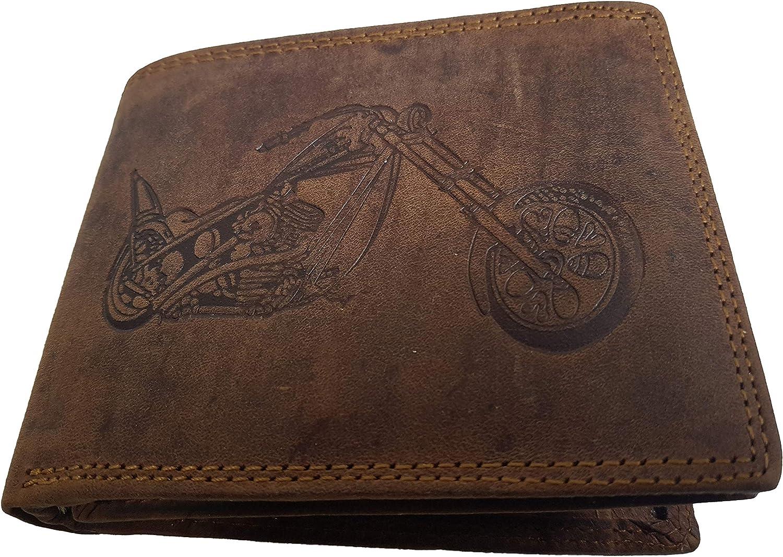 Portefeuille de Moto en Cuir de Buffle v/éritable Harley II Rustique AS de la Marque Shopping