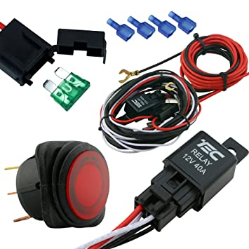 lamphus cruizer off road atv jeep led light bar wiring harness kit 40 amp relay on off switch  40 off road atv jeep led light bar wiring #4