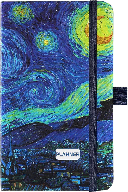 2021 Pocket Planner/Calendar - Weekly & Monthly Pocket Planner, Jan - Dec 2021, 6.3''×3.8'', Agenda Planner and Schedule Organizer with Pen Holder