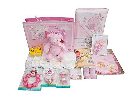Bolsa de regalo con capucha para bebés y bebés, con etiquetas.