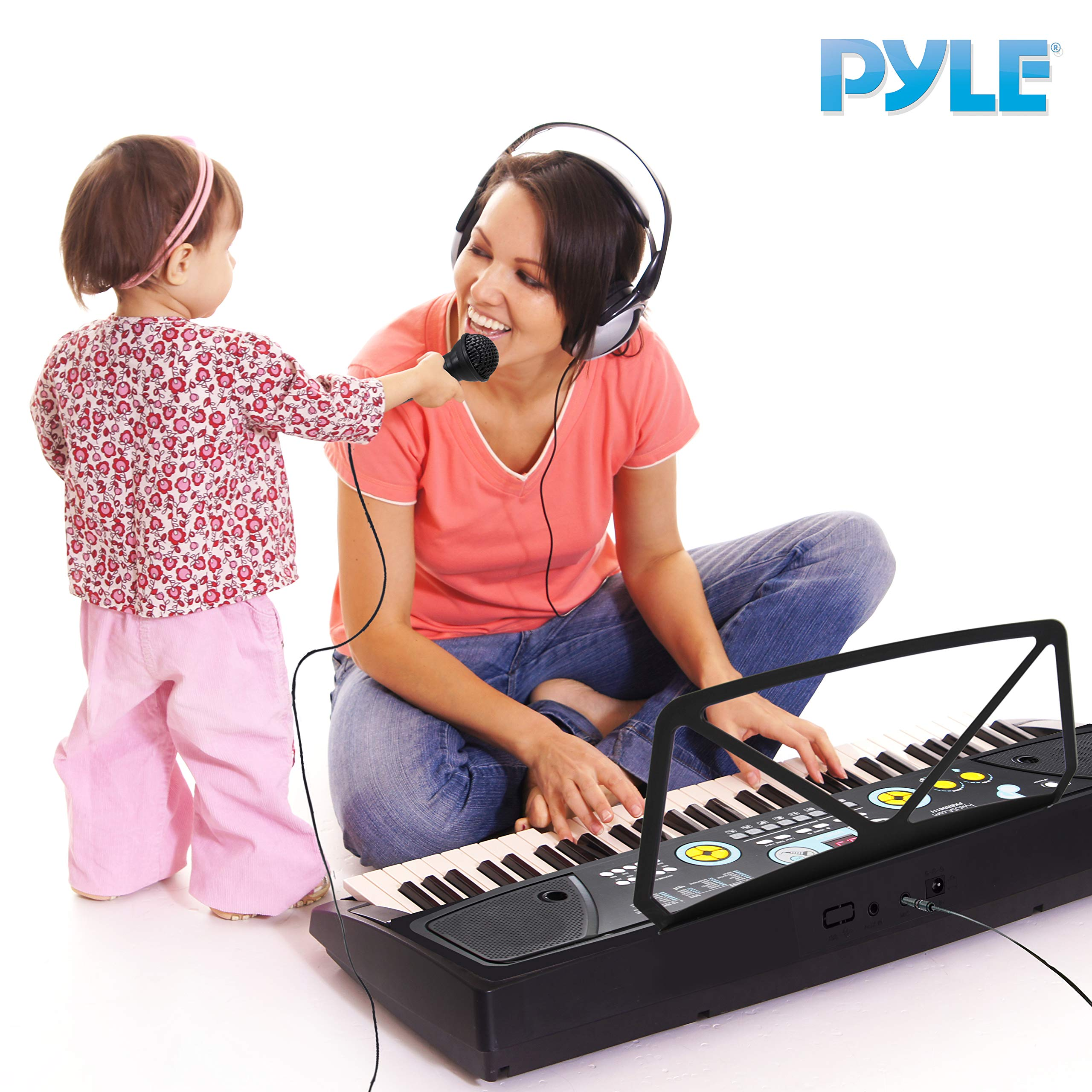 Digital Piano Kids Keyboard - Portable 61 Key Piano Keyboard, Learning Keyboard for Beginners w/ Drum Pad, Recording, Microphone, Music Sheet Stand, Built-in Speaker - Pyle by Directly Cheap (Image #6)