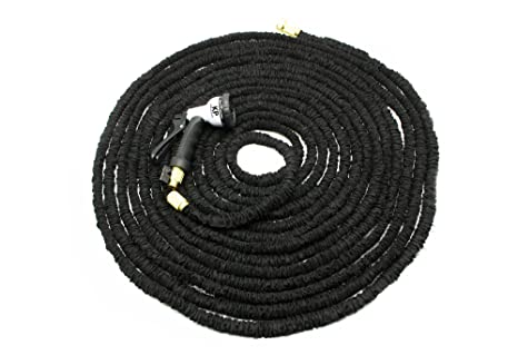 Bon Durable Garden Hose   150 Feet Expandable Design With Double Thick Latex    Stainless Steel Ends