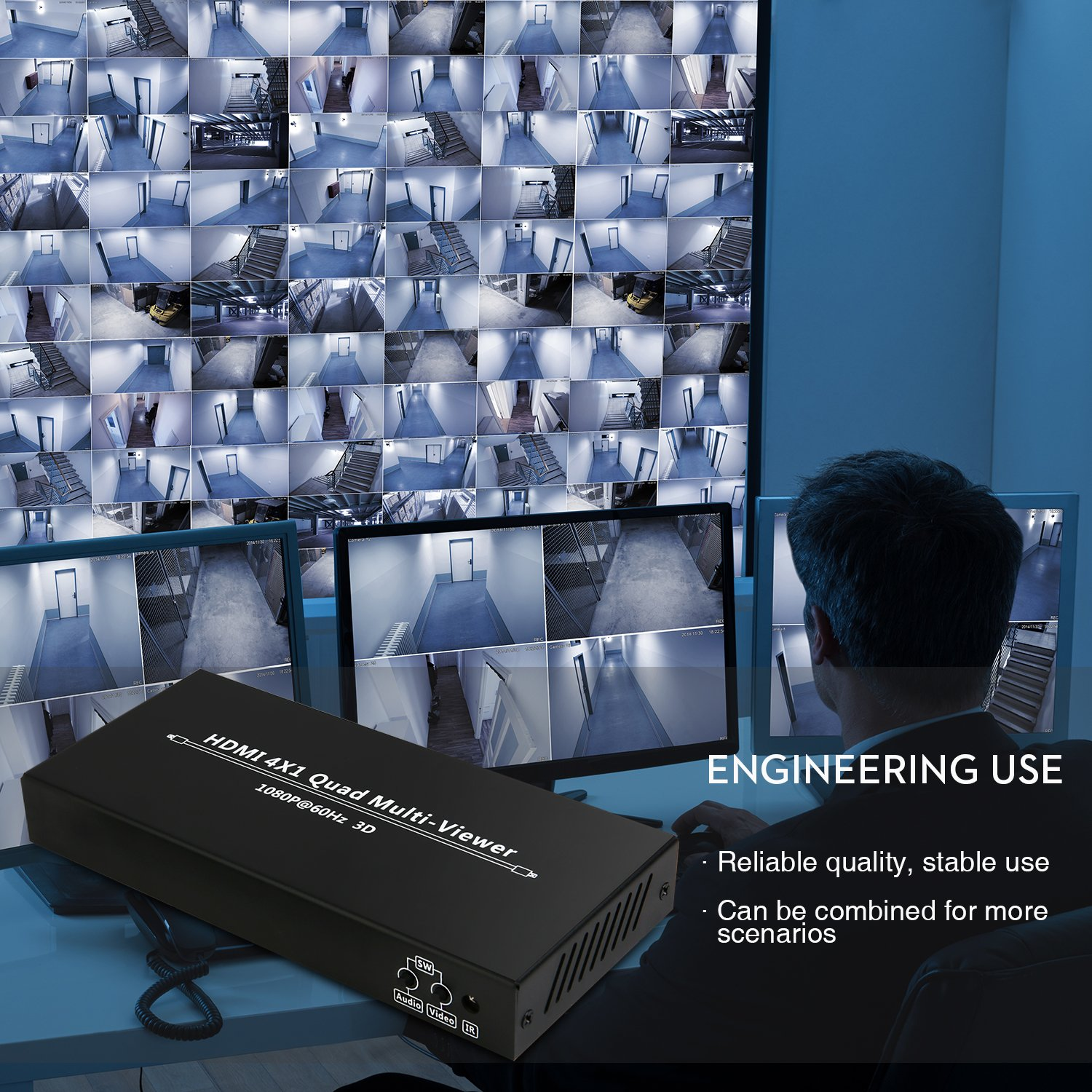 NIERBO Hdmi Switcher 2X1 4K@60HZ /(a Free HDMI 1 4 Cable