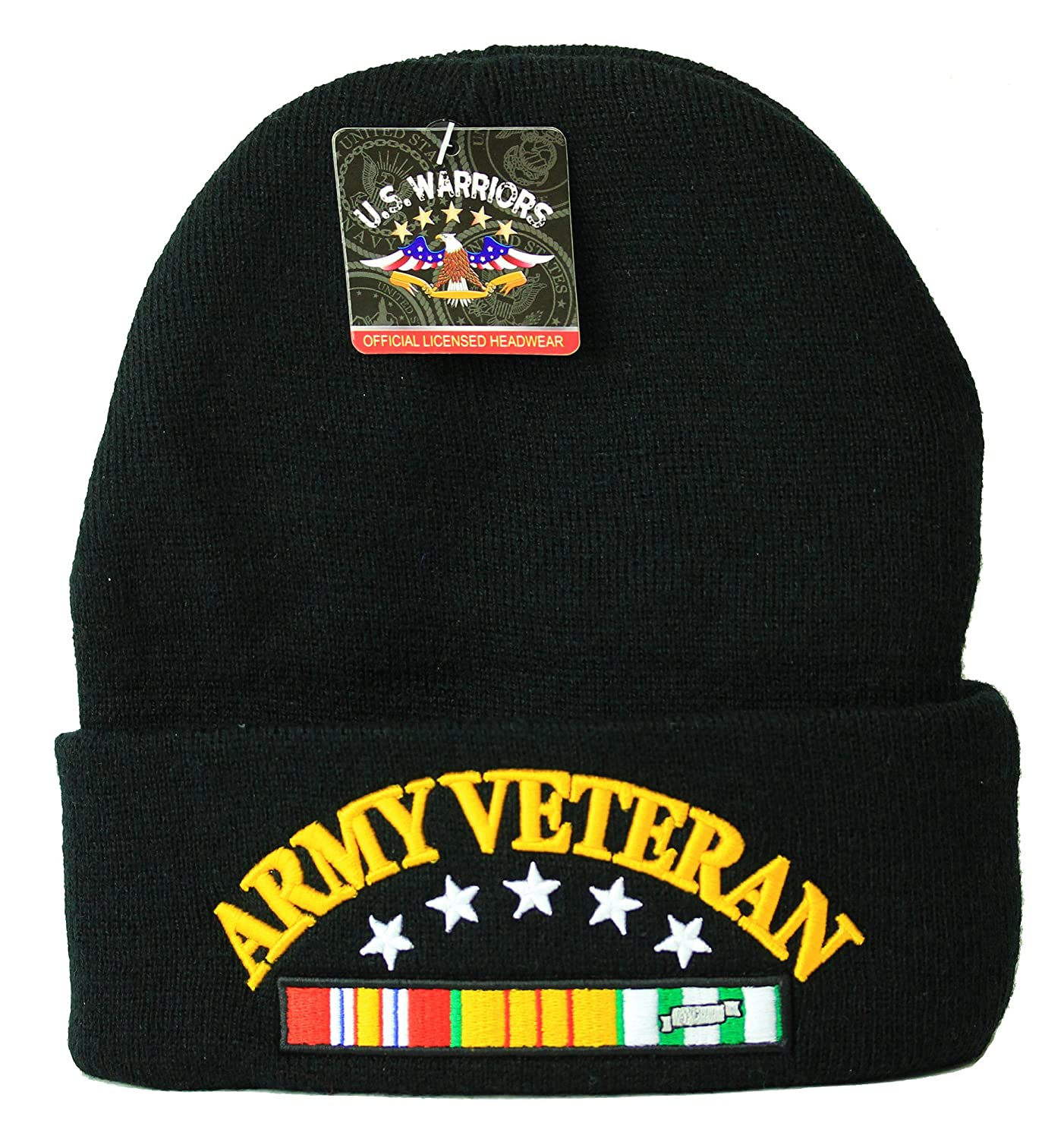 US Military Beanie Veteran Official Licensed Headwear Army Veteran Black at  Amazon Men s Clothing store  4ff11381f30