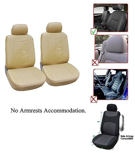 Magnificent Amazon Com Opt Brand Vinyl Leather 2 Front Car Seat Covers Spiritservingveterans Wood Chair Design Ideas Spiritservingveteransorg