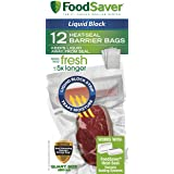 FoodSaver 1-Quart Liquid Block Heat-Seal Bags, 12 Count