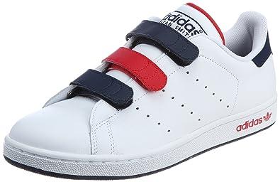Adidas Originals Stan Smith II CF Klett Sneaker weiß/blau ...