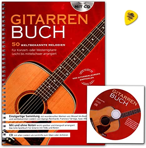Guitarra – Libreta de 50 Célebre melodías para guitarra de ...