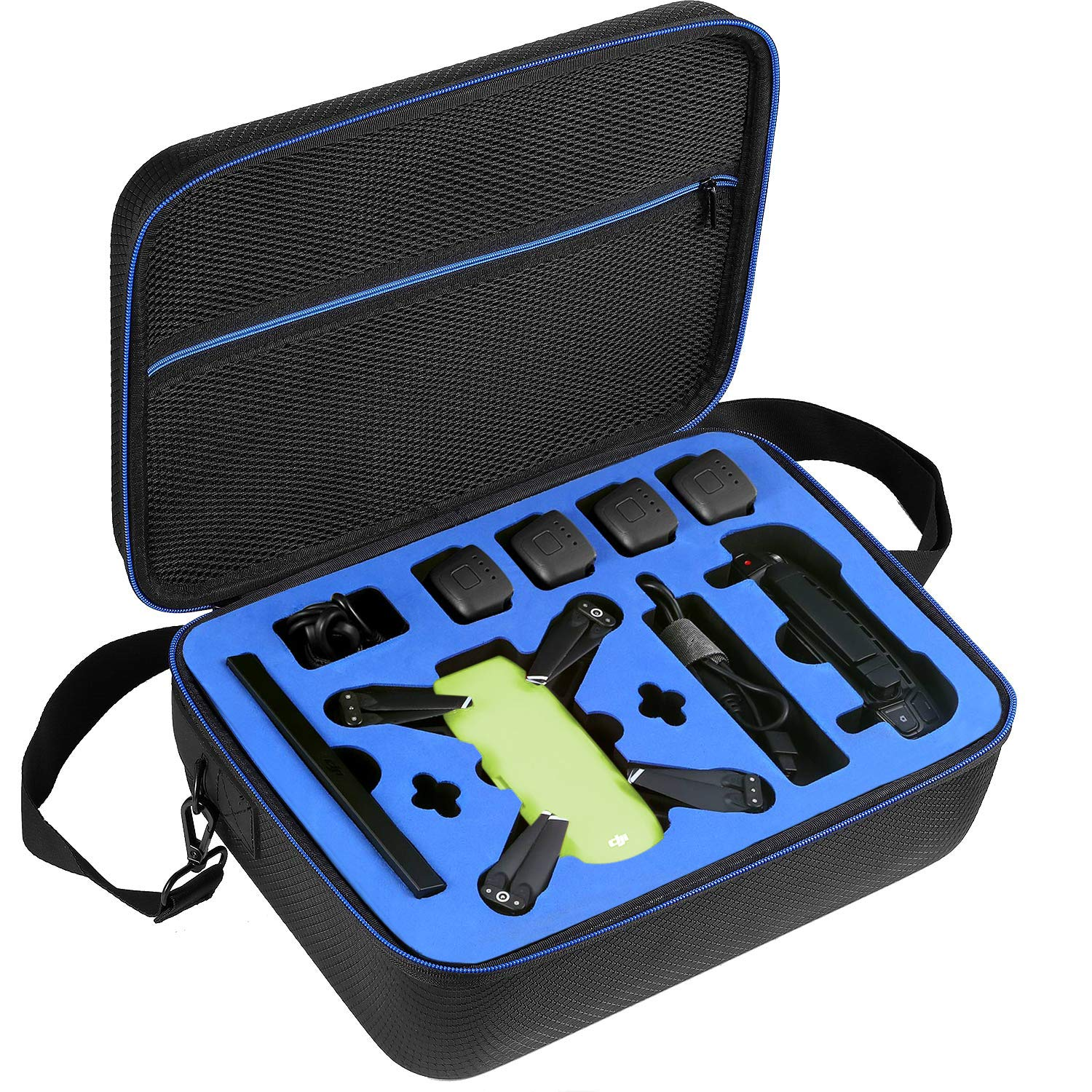 D DACCKIT Travel Carrying Case Compatible with DJI Spark Fly More Combo - Fit DJI Spark Drone, 4X Intelligent Flight Batteries, Remote Controller, Charging Hub and Other Accessories by D DACCKIT