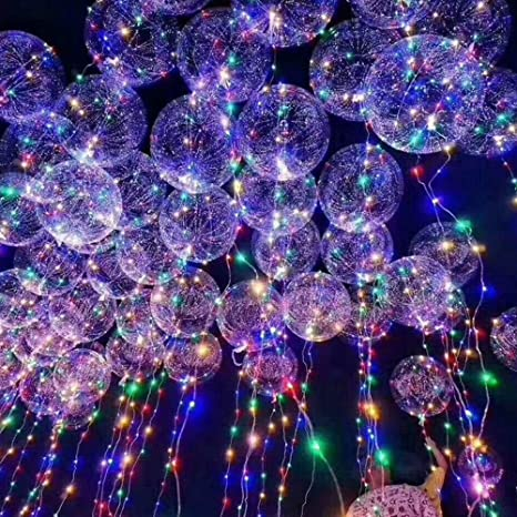 ElementDigital LED Balloon Light Up Transparent Balloons Multi For Christmas Birthday Cub Wedding And