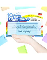 10 x Dyslexia Reading Strips with Coloured Overlays. Reading Tracking Rulers for Dyslexia Irlens, ADHD and Visual Stress