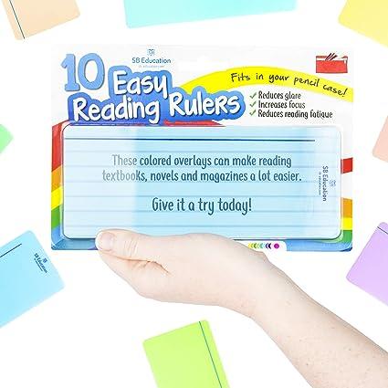 Dyslexics Using Iphone As Reading Aid >> Amazon Com Sb Education 10 X Dyslexia Reading Strips With Coloured