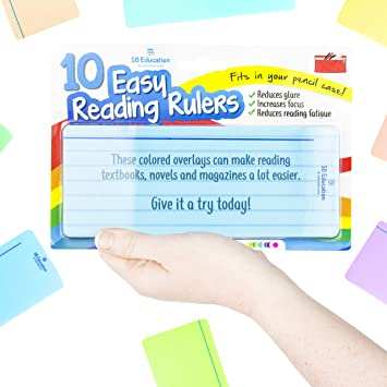 Dyslexics Using Iphone As Reading Aid >> 10 X Dyslexia Reading Strips With Coloured Overlays Reading Tracking Rulers For Dyslexia Irlens Adhd And Visual Stress