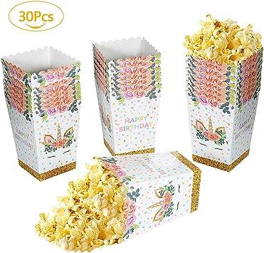 Cajas de Palomitas, Remebe 30 Piezas de Palomitas de maíz Caja de ...