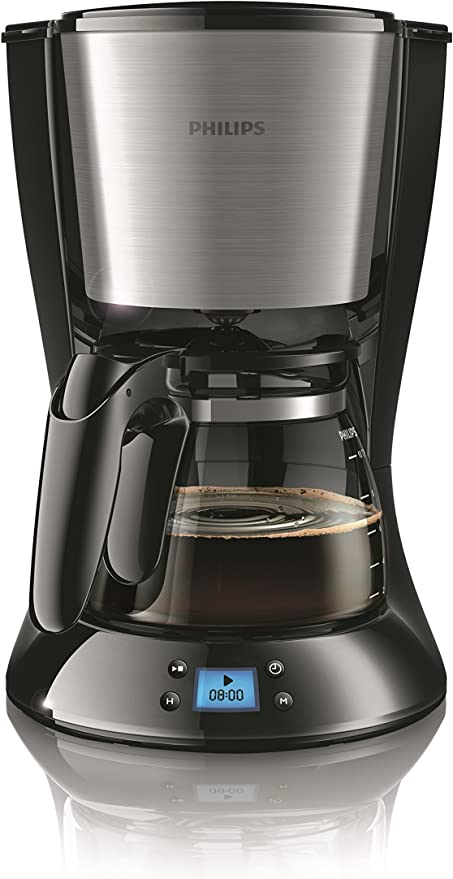 Philips Daily Collection HD7459/23 - Cafetera (Independiente, Cafetera de filtro, 1,2 L, De café molido, 1000 W, Negro, Acero inoxidable): Amazon.es: Hogar