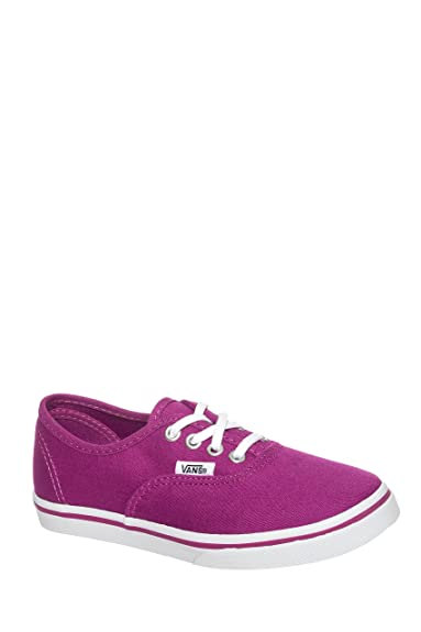 7952901149e0 Vans Girl s Authentic Lo Pro Skateboarding Shoes Deep Orchid True White  Size  2 Little