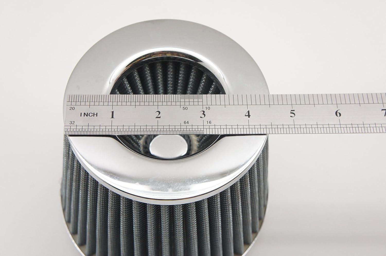 2.5 Autobahn88 Kit de course: Tuyau flexible dadmission dair r/ésistant /à la chaleur en silicone 10 pieds longueur 3 m/ètres taille int/érieure 64mm rouge