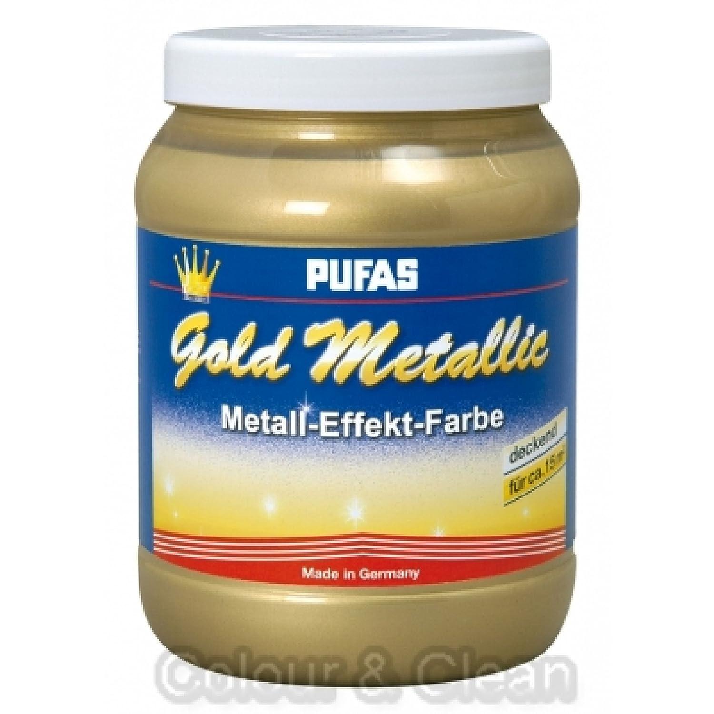 Pufas Gold Metallic Effect Metall-Effekt-Farbe 1,5 L goldener ...