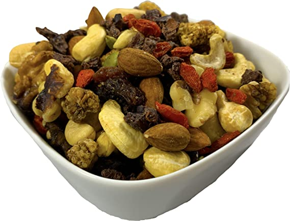 Raw Superfoods Trail Mix Chocolate Nibs Mix Dark Chocolate