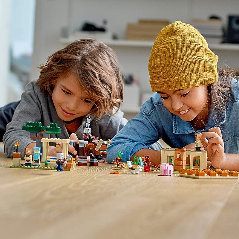 2020年新品 LEGO 乐高 Minecraft 我的世界 21160 灾厄村民突袭 积木玩具 8折$47.99史低 海淘转运到手约¥392