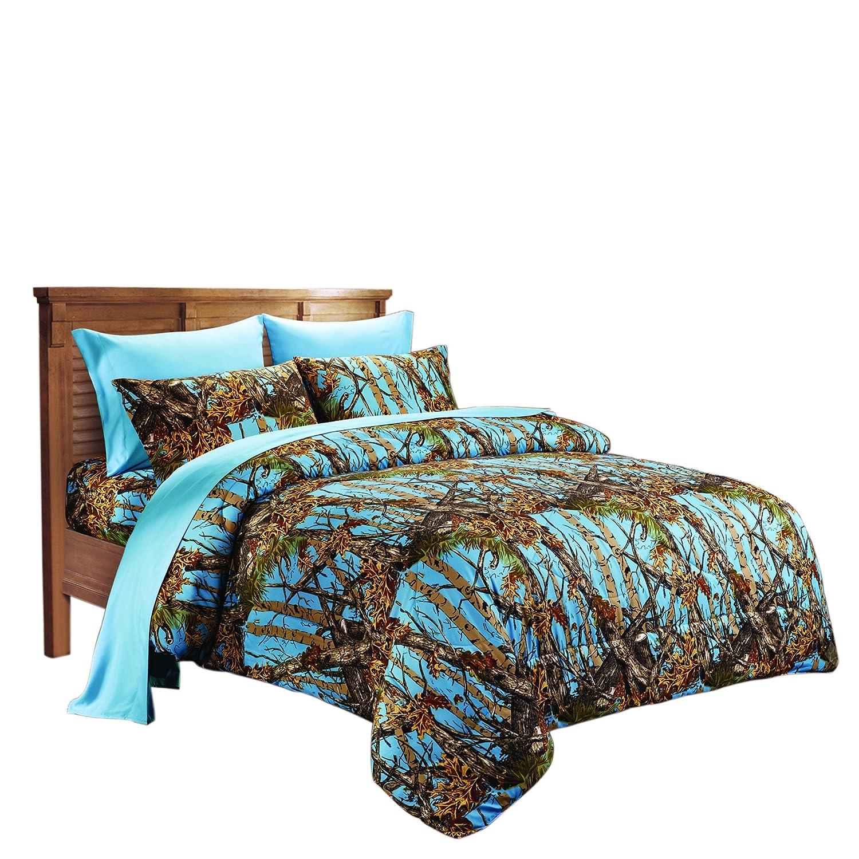 Microfiber Camo Comforter Blue, Queen
