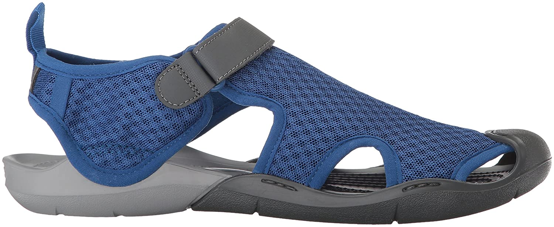 Crocs Women's Swiftwater Mesh Sandal B01MU1NA7C 9 B(M) US|Blue Jean