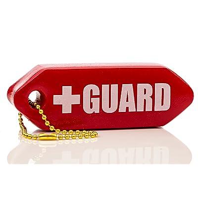 BLARIX Lifeguard Rescue Tube Float Keychain Floating Key Chains (Red): Automotive