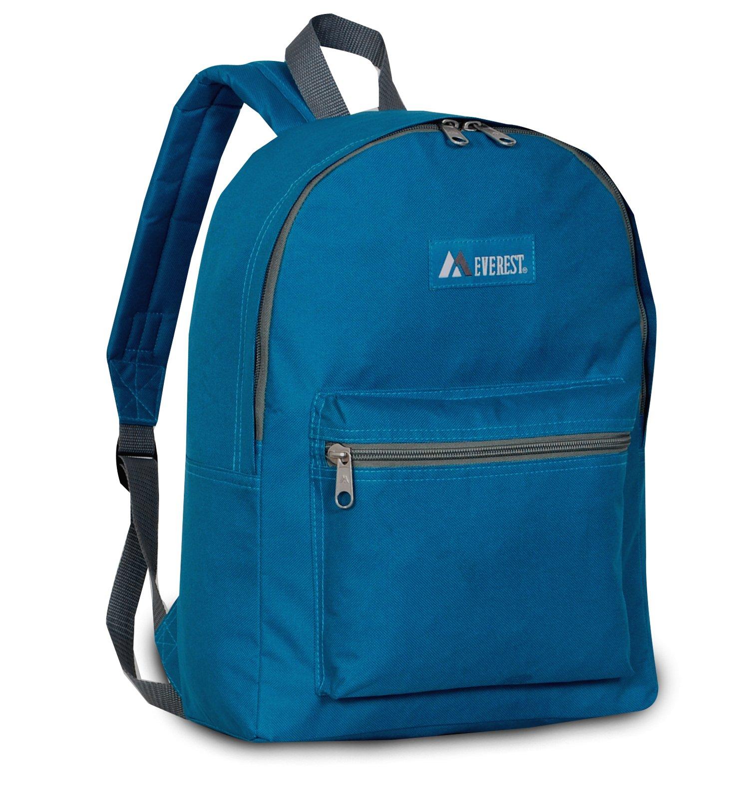 Everest Basic Backpack, Dark Teal, One Size