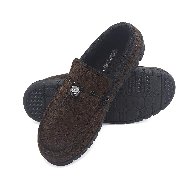 7fa42463c07 Exact Fit Men's Venetian Slipper Indoor Outdoor Adjustable Comfortable  House Shoe with Memory, Brown, Large Regular US