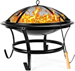 Best Choice Products 22-inch Outdoor Patio Steel Fire Pit Bowl BBQ