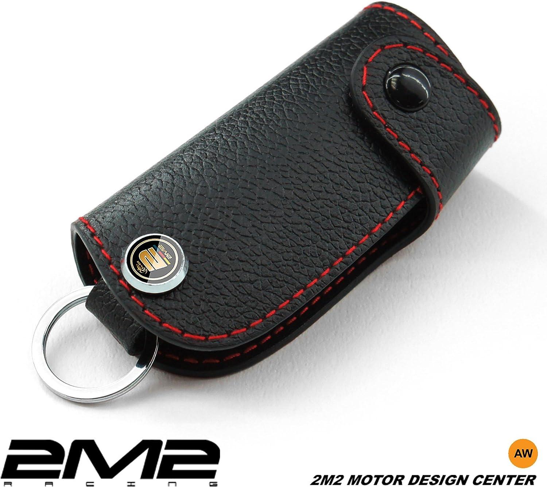 2M2 FI03-05-001 Leather key fob holder case chain cover For 500 500C 500L TREKKING LIVING PANDA X4 PUNTO DOBLO BRAVO FREEMONT SEDICI IDEA