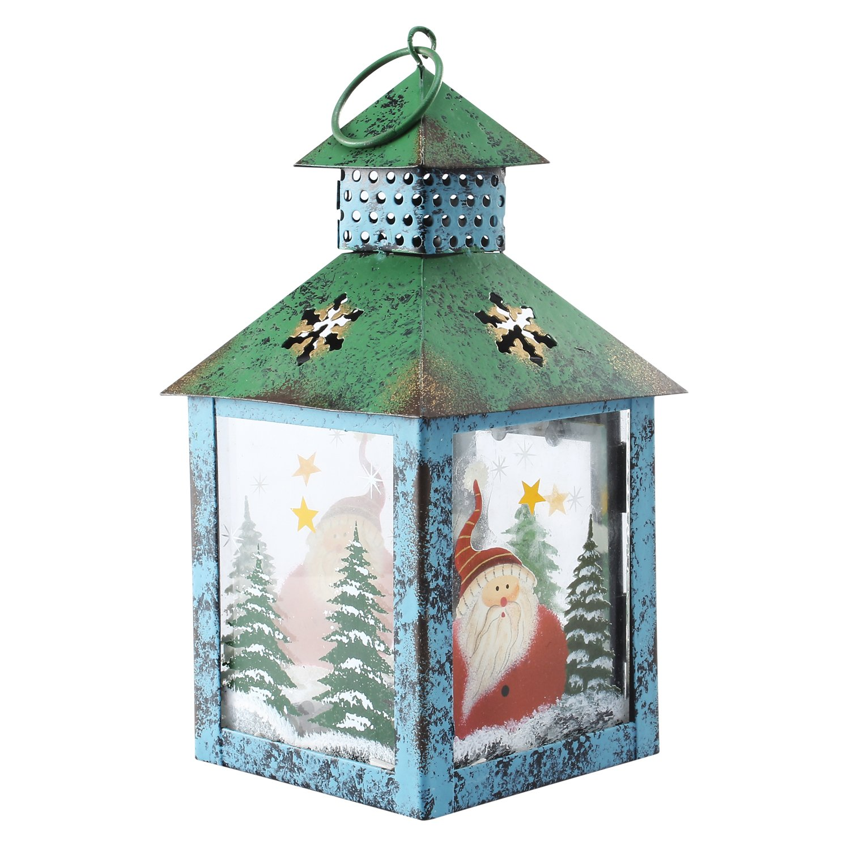 APEX LIVING Lantern Home Decor Hanging Candle Lantern, 9 Inch Tall Dazzling Jade