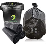 NaturePac Garbage Bags Biodegradable For Kitchen,Office,Large Size (60cmX81cm/(24 Inchx32 Inch),45 Bag).(Black)
