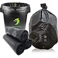 NaturePac Garbage Bags Biodegradable For Kitchen,Office,Large Size (60cmX81cm/(24 Inchx32 Inch),45 Bag).