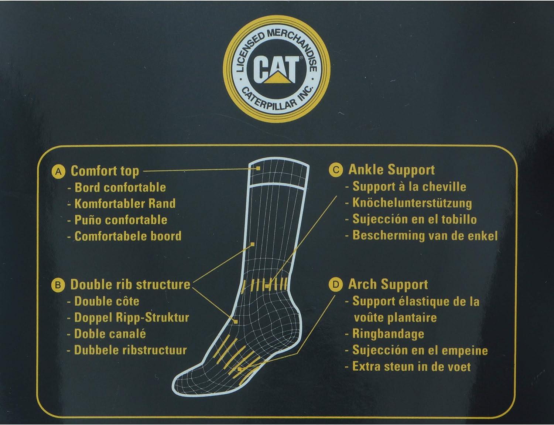 Ottima qualit/à in Lana Caterpillar 4 PAIA Calze da Lavoro Uomo Outdoor CAT Termiche con punta e tallone rinforzati