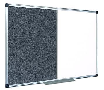 Trocken Abwischbar Mit Aluminiumrahmen 60 x 45 cm Magnettafel Memoboard Bi-Office magnetisches Whiteboard New Generation Lackierte Stahloberfl/äche