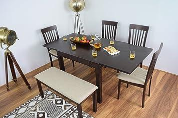 AHOC Mesa de Comedor Extensible y 4 sillas con Extensible de ...