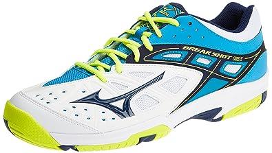 official photos 5608c 04ae5 Mizuno Break Shot Ex AC, Chaussures de Running Homme, Multicolore  (White Blue