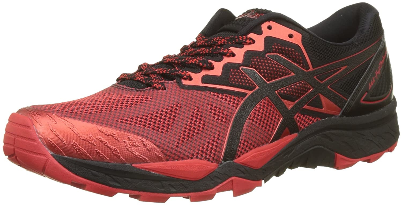 Asics Gel-Fujitrabuco 6, Zapatillas de Gimnasia Hombre, 46 EU|Rojo (Black/Fiery Red/Black 9023)