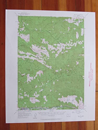 Mill City Oregon Map.Amazon Com Mill City Oregon 1961 Original Vintage Usgs Topo Map