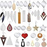 VC4375# 8Pcs Gray shiny Leather Teardrop shape,Heart Teardrop Earring Supplies,Faux Leather Die Cut Teardrop,DIY Earring-56x36mm