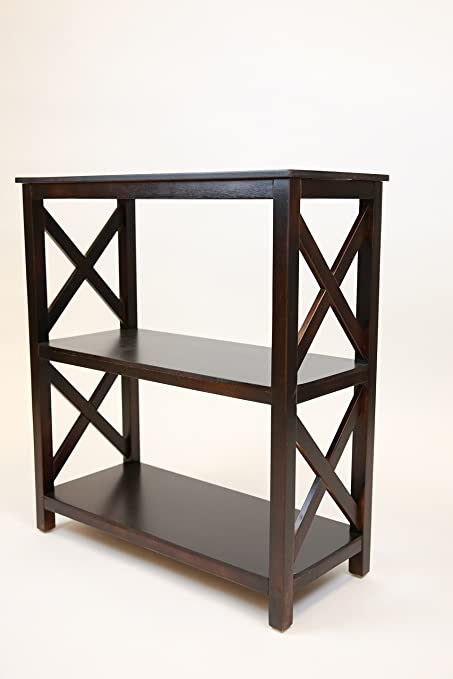 Pearington Fully Assembled Large X Design 3 Tier Table Used As A Bookshelf Or End